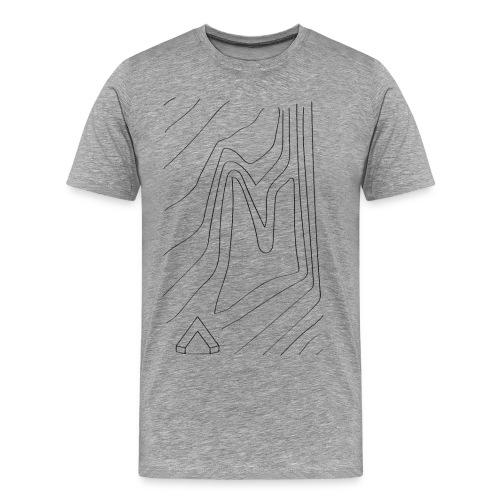 Männer Shirt Topographie I grau meliert - Männer Premium T-Shirt