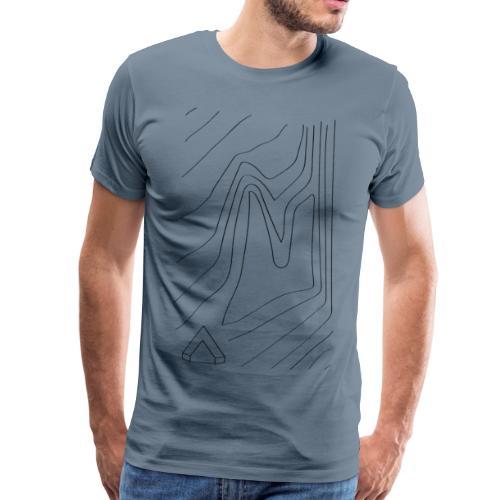 Männer Shirt Topographie I blau grau - Männer Premium T-Shirt