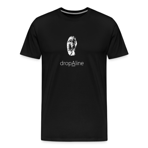 drop A line Männer Kurzarm Shirt - Männer Premium T-Shirt