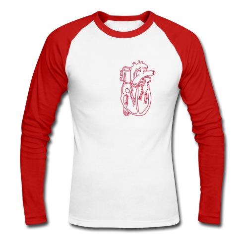 Herz - Männer Baseballshirt langarm