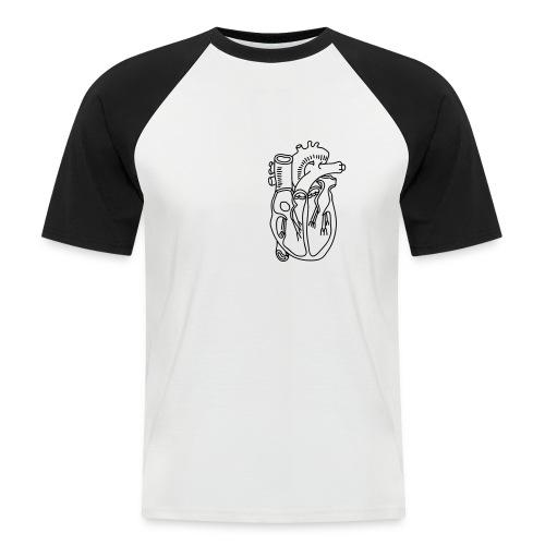 Herz - Männer Baseball-T-Shirt