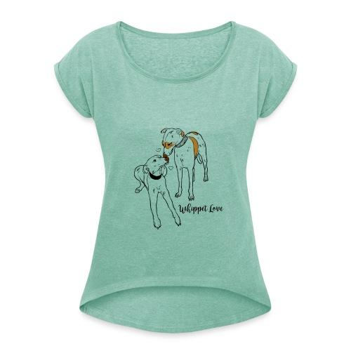 T-shirt Femme Whippet - T-shirt à manches retroussées Femme