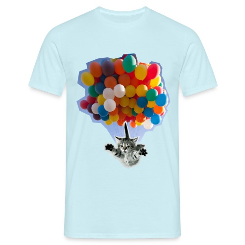 BALLOON CAT BLUE - Men's T-Shirt