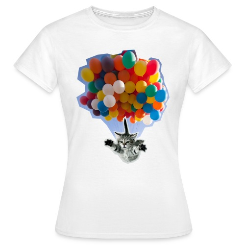 BALLOON CAT WHITE - Women's T-Shirt