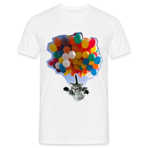 BALLOON CAT WHITE - Men's T-Shirt