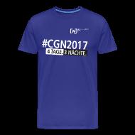 T-Shirts ~ Männer Premium T-Shirt ~ #CGN 2017 Botschafter-Shirt Herren