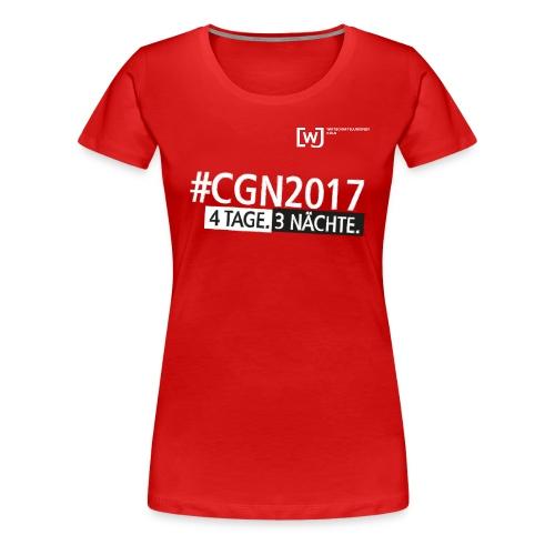 #CGN 2017 Botschafter-Shirt Damen - Frauen Premium T-Shirt