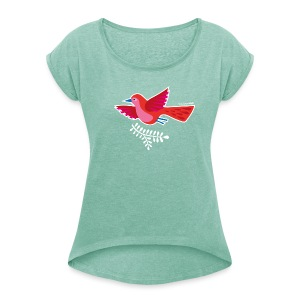 "Lady-T ""Birds of a feather"" - Frauen T-Shirt mit gerollten Ärmeln"