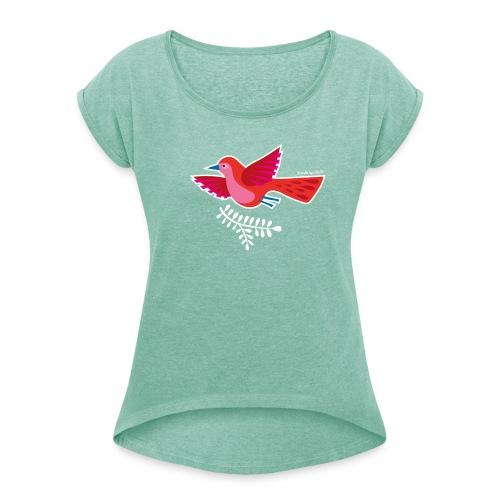 """Lady-T """"Birds of a feather"""" - Frauen T-Shirt mit gerollten Ärmeln"""