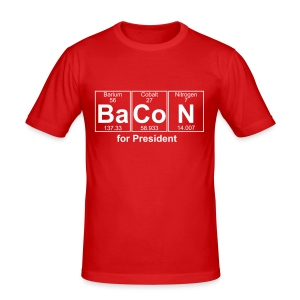 Bacon for President (you can change text) - Men's Slim Fit T-Shirt