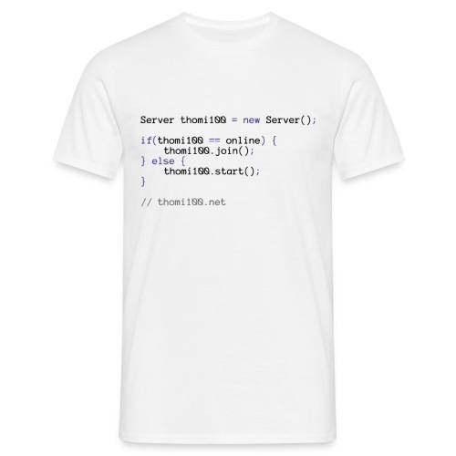 thomi100.net - Developer - Männer T-Shirt