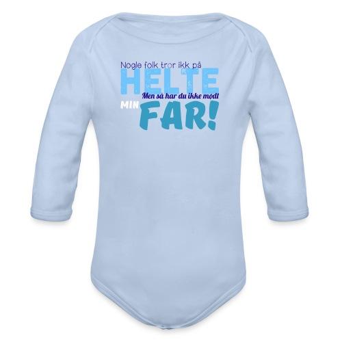 Nogle Folk Tror Ikke På Helte - Baby Body (Langærmet) - Langærmet babybody, økologisk bomuld