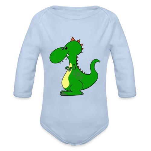 Dino Dradgon - Baby Body (Langærmet) - Langærmet babybody, økologisk bomuld