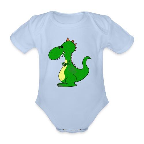Dino Dragon - Baby Body - Kortærmet babybody, økologisk bomuld