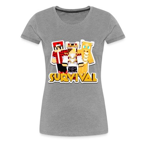 Minecraft Survival Helden Shirt - Vrouwen Premium T-shirt