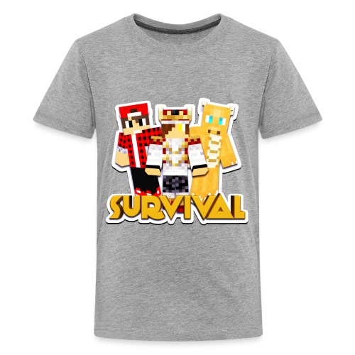 Minecraft Survival Helden Shirt - Teenager Premium T-shirt