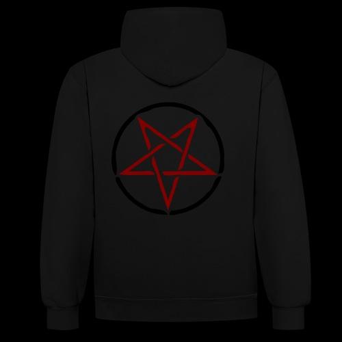 Pentagramm Hoodie - Kontrast-Hoodie