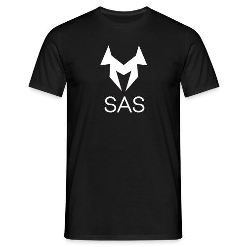T-Shirt schwarz mit weißen Logo - Männer T-Shirt