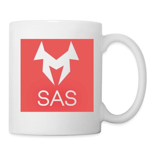 Tasse mit rot/weißen Logo - Tasse