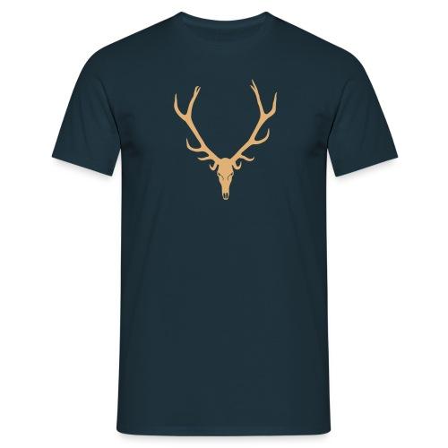 Hirsch Skelett Totenkopf - Männer T-Shirt