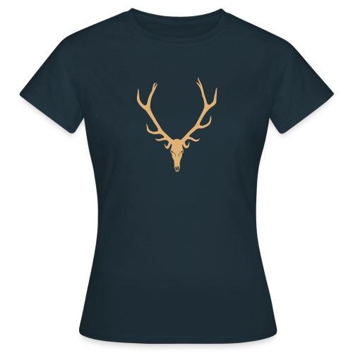 Hirsch Skelett Totenkopf - Frauen T-Shirt