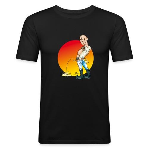 Pisser / Black / Slim - Männer Slim Fit T-Shirt