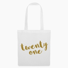 Twenty One / 21 Glitter Birthday Quote Bags & Backpacks