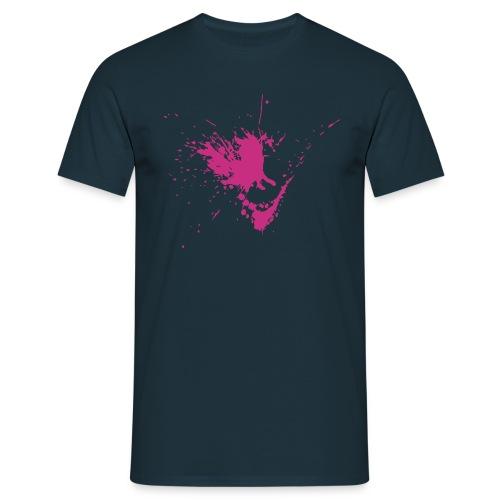 Farbklecks mit Spritzern - Männer T-Shirt