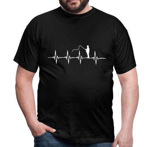 Heartbeat - Angeln - Männer T-Shirt