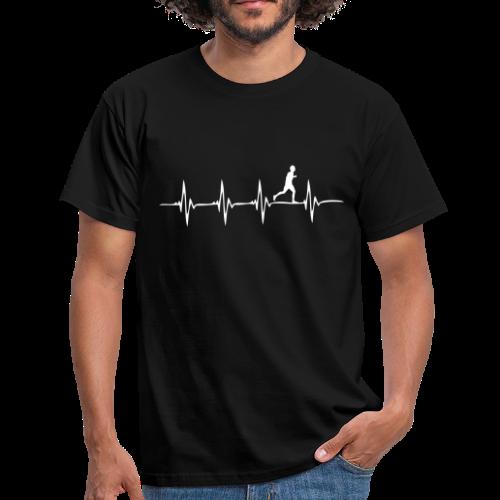 Heartbeat - Läufer - Männer T-Shirt