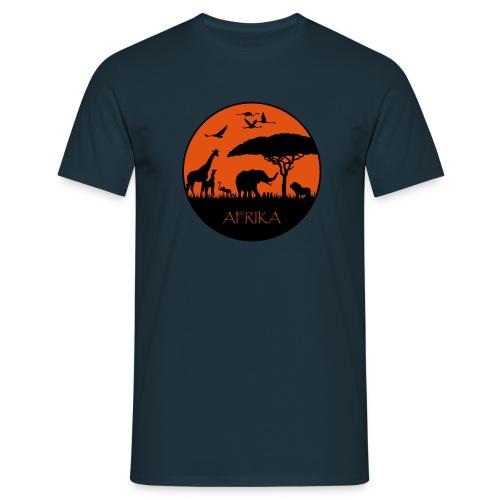 Afrika - Sonnenuntergang - Männer T-Shirt