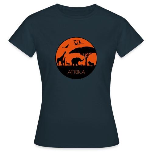 Afrika - Sonnenuntergang - Frauen T-Shirt