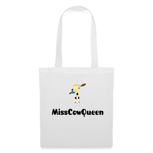 White MissCowQueen Carrier Bag - Tote Bag