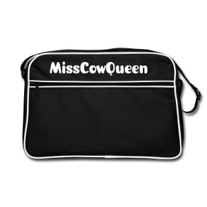 Black & White MissCowQueen Passenger Bag - Retro Bag