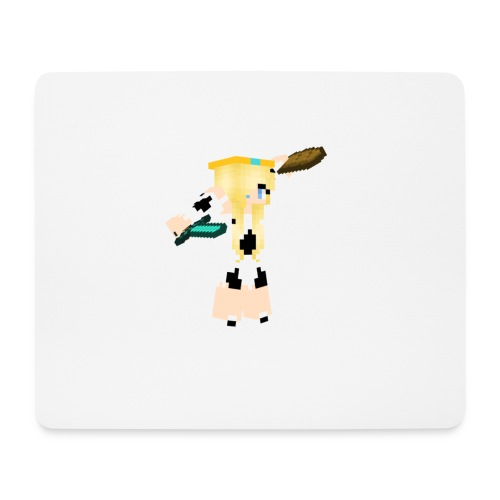 White MissCowQueen Mouse Pad - Mouse Pad (horizontal)