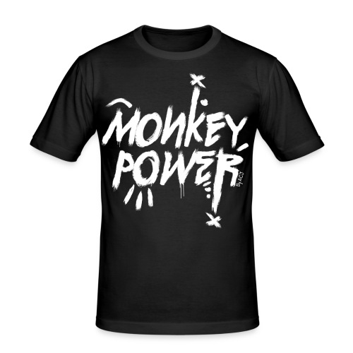 Monkey Power - Homme - T-shirt près du corps Homme