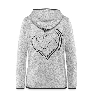 Back: MPS Heart, Women Fleecejacke ( Print: Black Glitter) - Frauen Kapuzen-Fleecejacke
