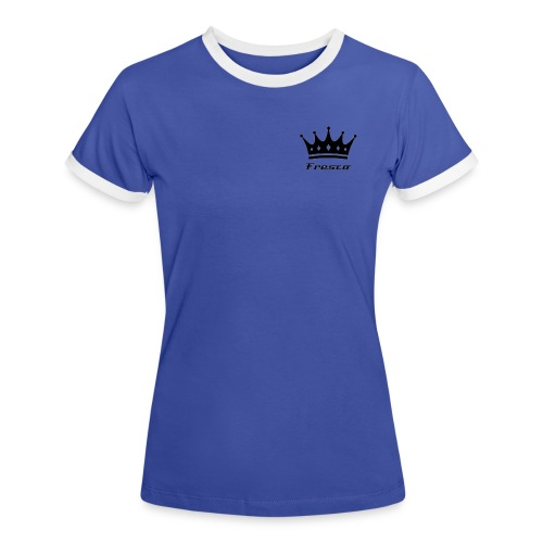 Fresco Blue/White Womens - Women's Ringer T-Shirt
