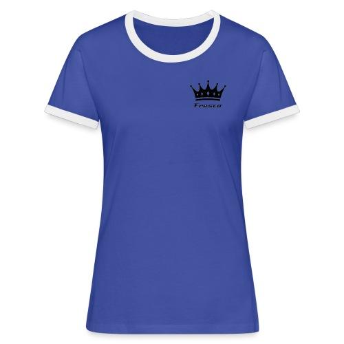 Fresco Blue/White Womens - Women's Ringer T-Shirt