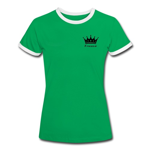 Fresco Green/White Womens - Women's Ringer T-Shirt