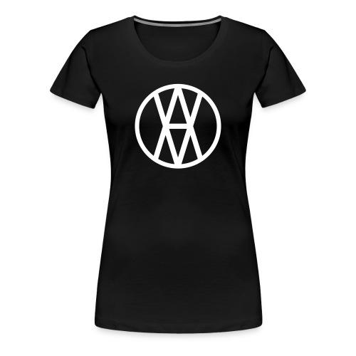 AV White Logo F - Women's Premium T-Shirt