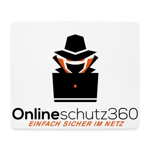 Onlineschutz360 Mousepad Logo mit Schriftzug - Mousepad (Querformat)