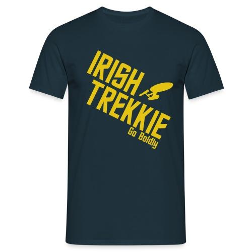IrishTrekkie - Go Boldly - TOS - Men's T-Shirt