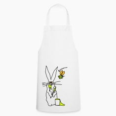 funny bunny and bee cooking apron
