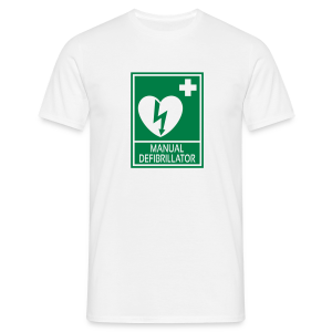 AED Defibrillator Man - Men's T-Shirt