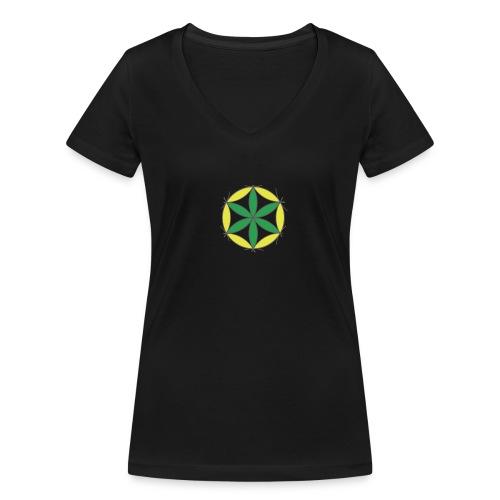 T-Shirt Femme / Fleur de Vie 001 [Platon 001] - T-shirt bio col V Stanley & Stella Femme