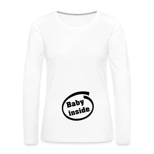 Baby Inside - T-shirt manches longues Premium Femme