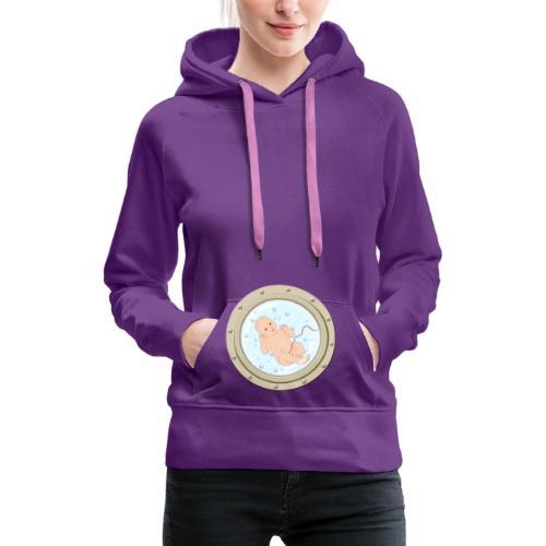 baby on board - Sweat-shirt à capuche Premium pour femmes