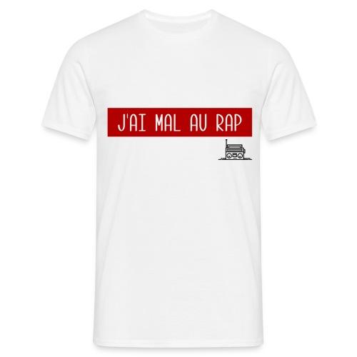 T-Shirt Blanc - J'ai Mal au Rap - T-shirt Homme