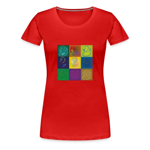 Pop-Art-Ducklings-Girls-Shirt - Frauen Premium T-Shirt